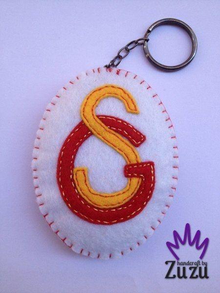 El Yapımı Galatasaray Logo Keçe Anahtarlık
