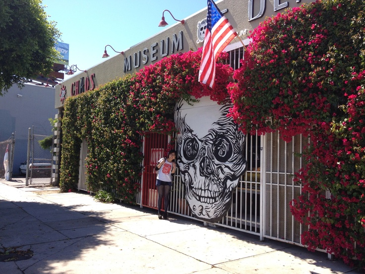 A short trip in the States.. love this skull with flower hair..