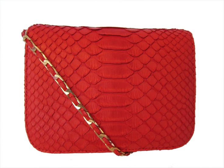 Definition of love: Hot red Python cross-body bag!