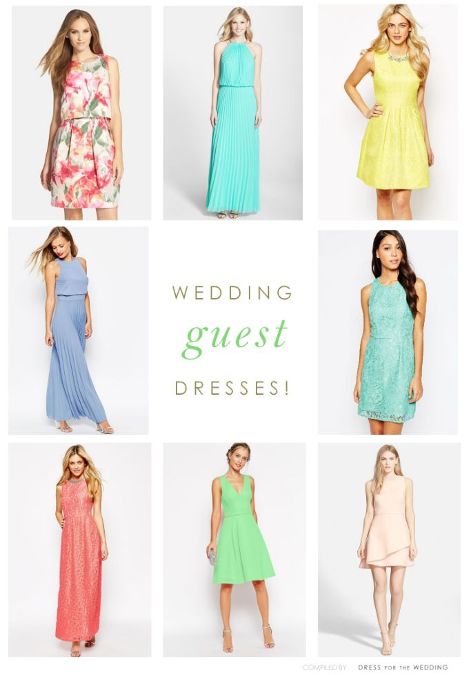 Wedding Guest Dresses - Tons of  ideas for dresses and outfits to wear as a wedding guest