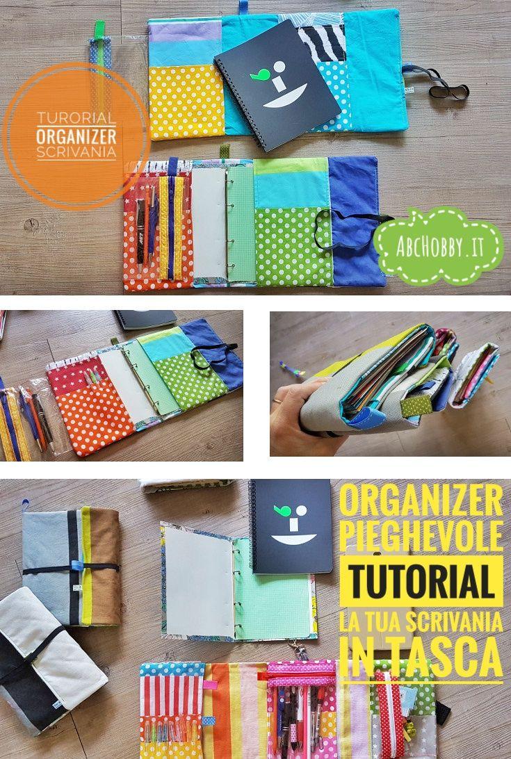 Tutorial di cucito creativo! Vediamo come realizzare un organizer in stoffa, pieghevole, porta tablet, porta quaderno con porta penne!