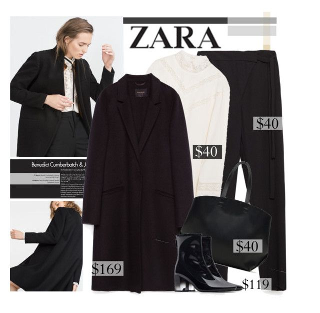 """""""Get That Zara Look"""" by sweet-jolly-ranchers ❤ liked on Polyvore featuring Zara, Fall, blackandwhite, zara and outfits"""
