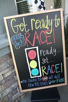 Pit Stop Birthday Party idea