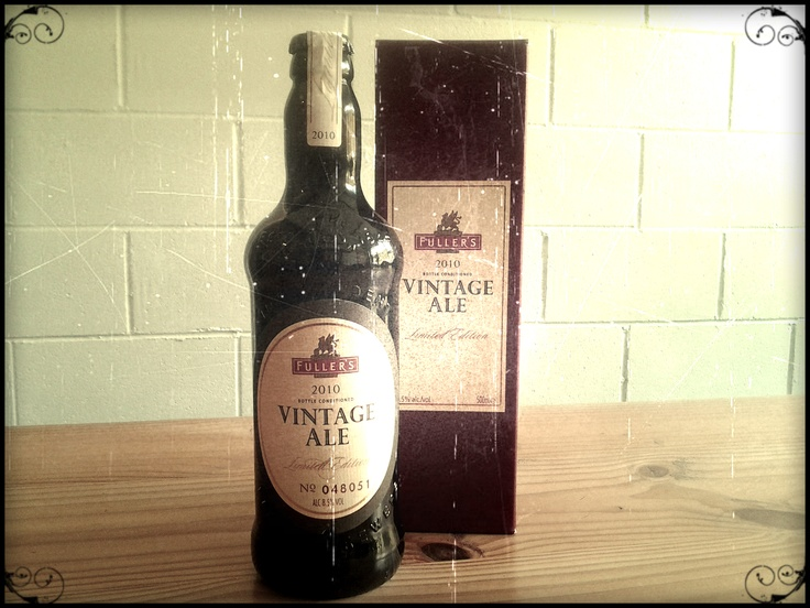 Fuller's Limited Edition Vintage Ale 2010. Only 125,000 made. Not entirely sold on this one.