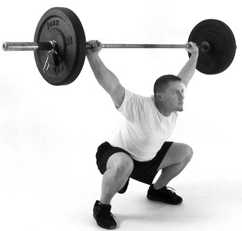 First real WOD tonight- Overhead Squats! Bring it! #crossfit