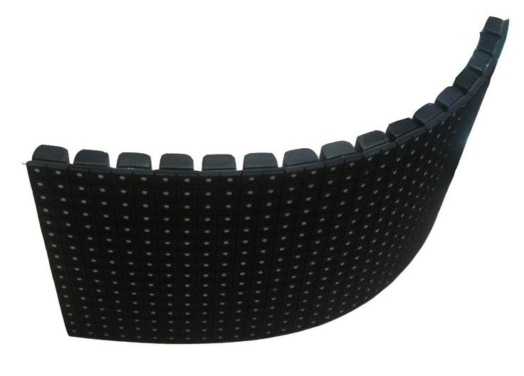 12mm 두께의 얇고 가벼운 플렉서블 LED, 휘는 전광판