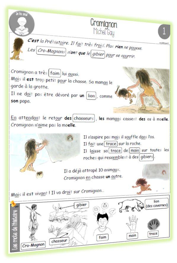 Cromignon : texte CP - Chez Lutin Bazar