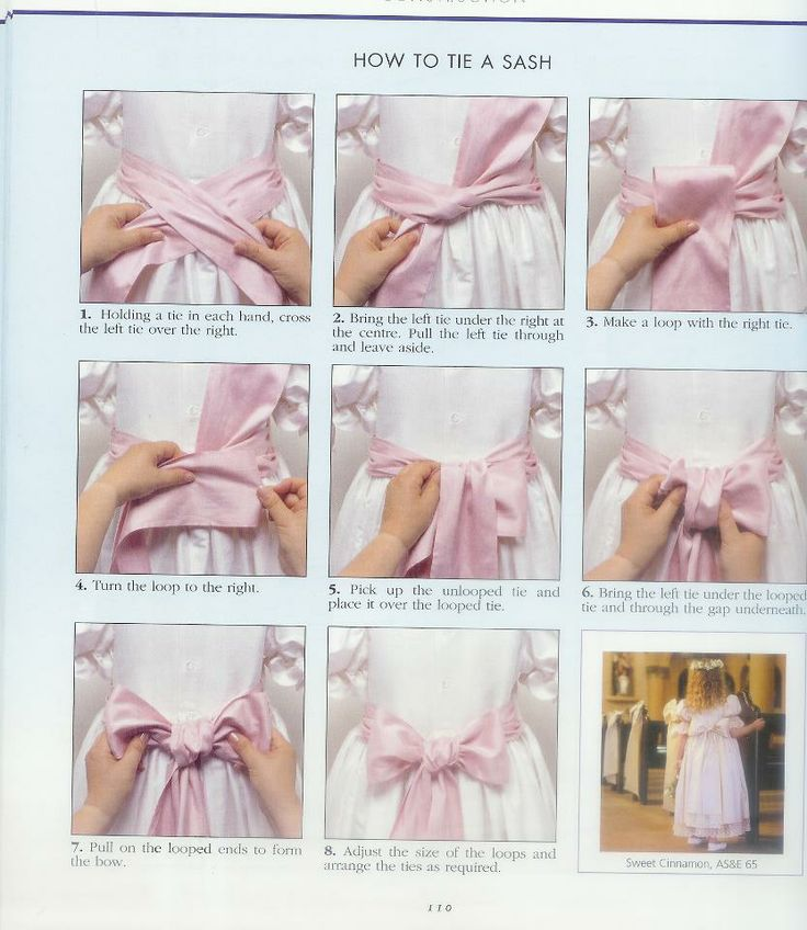 how to tie a bow... I did it and it actually works! My days of being bow challenged are OVER!