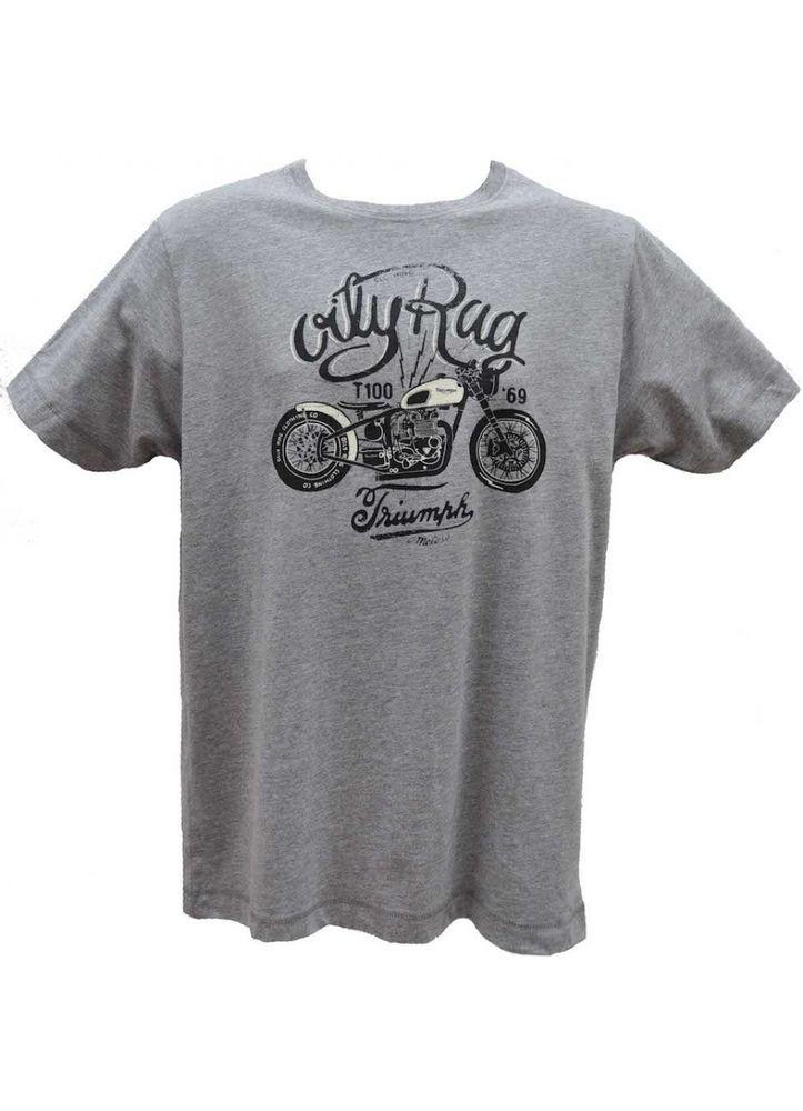Oily Rag Vintage Triumph Bobber T-Shirt Classic Retro Motorcycle Tee Size XL