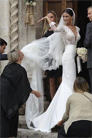 Matrimoni vip, gli abiti da sposa più belli delle star nel 2014 - LUDOVICA CARAMIS