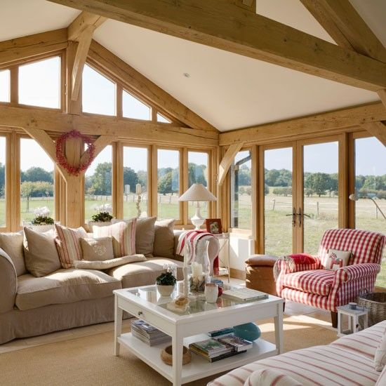 Living room | Rustic new-build house | Country Homes & Interiors house tour | PHOTO GALLERY | housetohome