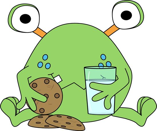 Chocolate Sandwich Cookies Clip Art | cookies clip art image two eyed monster eating chocolate chip cookies ...