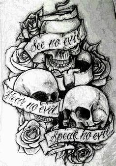 Hear no evil see no evil speak no evil- put on left shoulder