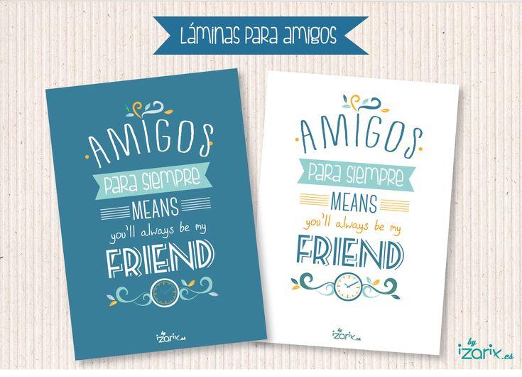 Láminas amigos