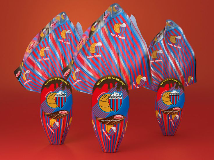 Dolfin » Pasqua 2013 » Calcio Catania Easter eggs  - packaging - Blender + photoshop