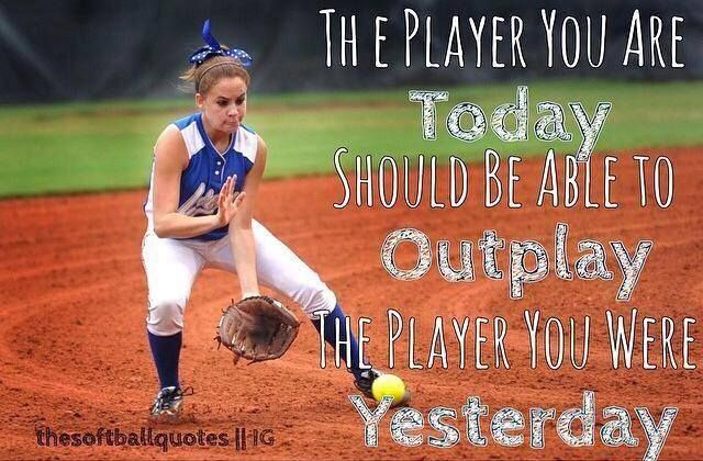 I totally agree after every practice, game or day, you must learn one new thing that you should improve on, and after that...WORK ON IT.