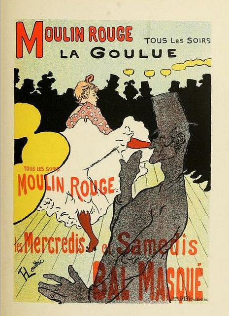 Moulin Rouge Poster // by Toulouse Lautrec | Flickr by CharmaineZoe