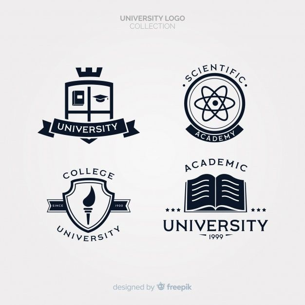 Download Pack Of Flat University Logos For Free With Images