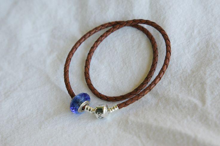 Woven Leather Brown Pandora Bracelet - $105 @Rodan Jewellers