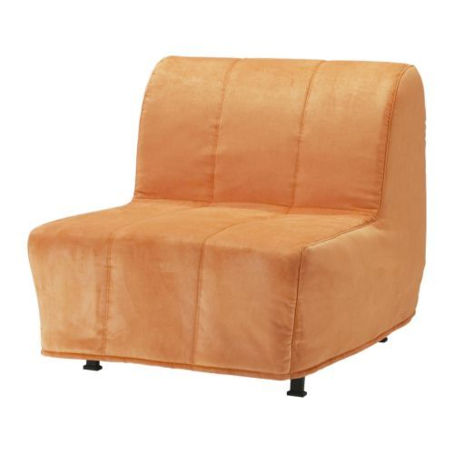 LYCKSELE HÅVET Chair bed - Henån orange - IKEA-- hmmm, this comes in many  colors and folds out to a single bed.