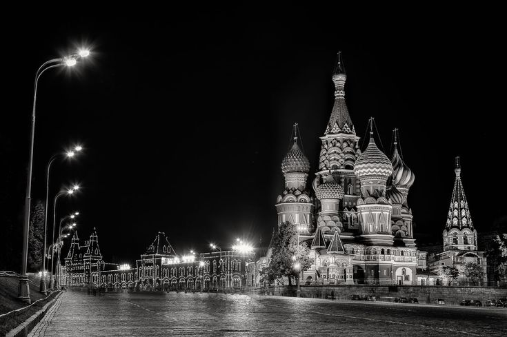 The quiet of night at St. Basil's Cathedral in Red Square, Moscow, Russia. Canon 5D Mark II camera andCanon 24-105mm f4 L series lens @ 65mm. Exposure; 0.3 to 10 secs, f8 ISO 100.