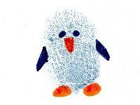 Great for Christmas card envelopes! Thumbprint penguin