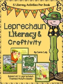 This Is Your Lucky Day!!This packet offers activities for 4 great Leprechaun Themed Picture Books  (Texas Proud/Common Core Friendly :) Working together for our students)Each writing activity provides primary and intermediate lines.Here is what you get:Thats What Leprechauns DoBy Eve BuntingSequencing PageProblem/Solution Flip Flap Journal PageStory Map Graphic OrganizerContraction Break Apart CardsWriting PromptThe Story of the LeprechaunBy Katherine TegelComprehension QuestionsStory Map…