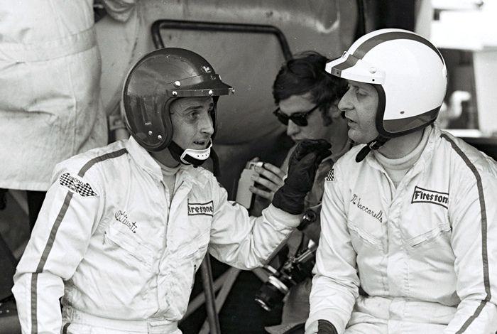 Ignazio Giunti (Buco Helmet) with Nino Vaccarella (Bell Helmet)