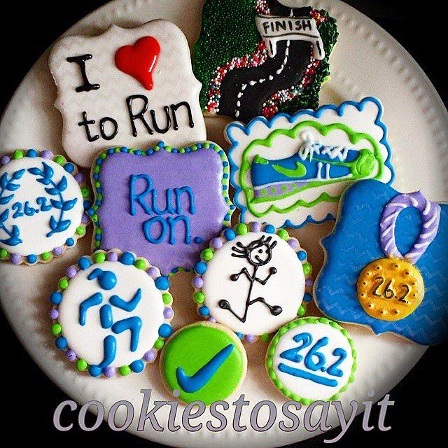 Marathon cookies #platter #patternedshimmer | Cookies: Sports/Outdoors ...