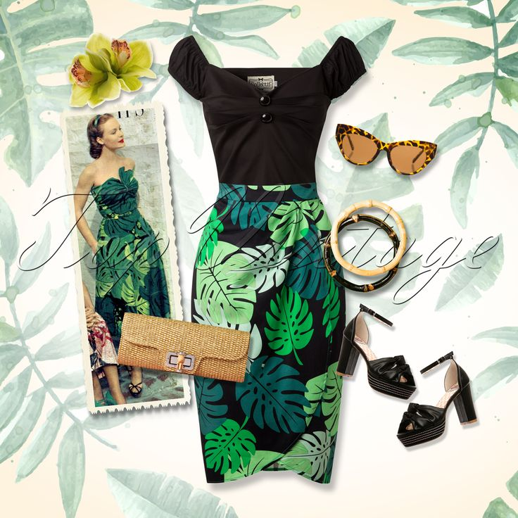 This tropical look will surely brighten any day!