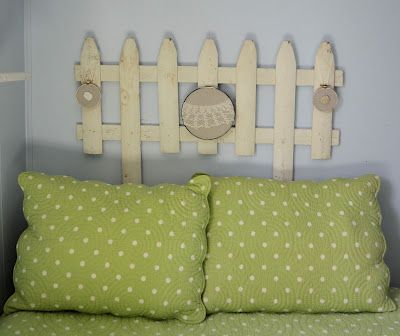 how to make a picket fence headboard