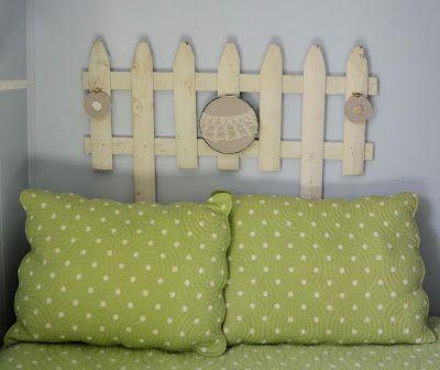 Shabby Love: Picket Fence Headboard