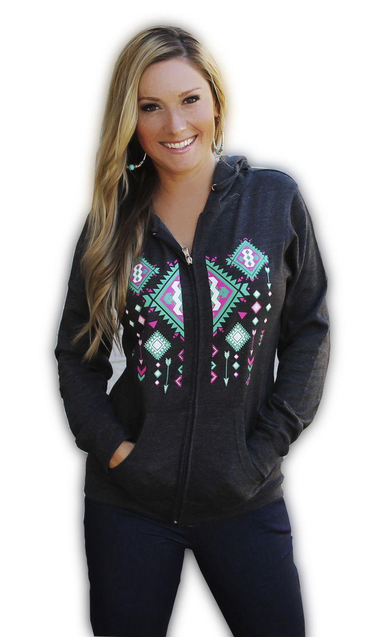 Ali Dee Collection - Aztec Zip Up Hoodie, $48.00 (http://www.alideecollection.com/aztec-zip-up-hoodie/)
