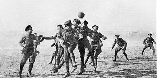 El día que el fútbol paró, por un momento, la Primera Guerra Mundial