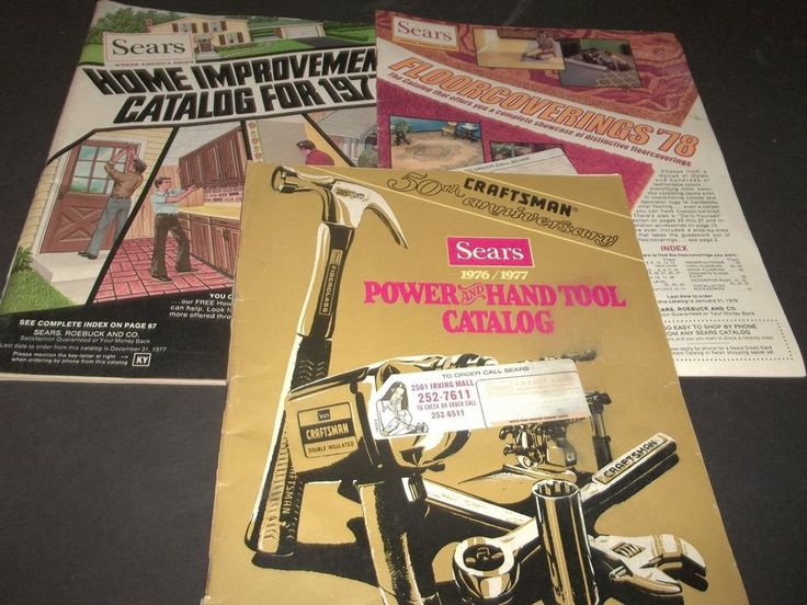Lot 3 Vintage Sears Catalogs 70's Home Improvement Flooring Craftsman Tools #Sears
