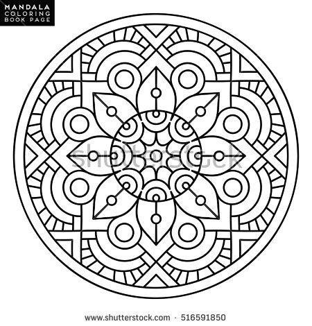 Mandala Para Colorear Flower MandalaMandala ColoringOutline ImagesHobbit