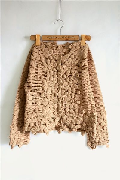 Crochet cardigan ♪ ♪ ... #inspiration #crochet #knit #diy GB http://www.pinterest.com/gigibrazil/boards/