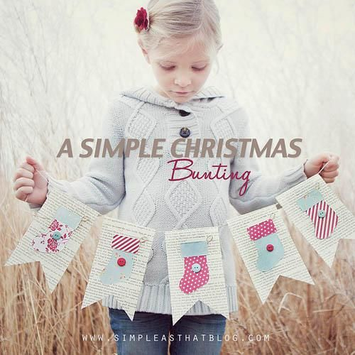 Simple Christmas Bunting Banner [more at pinterest.com/eventsbygab]