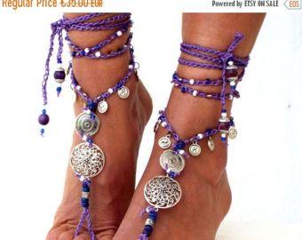 Barefoot Sandals women's shoes  Beach Jewelry by SantoriniBarefoot