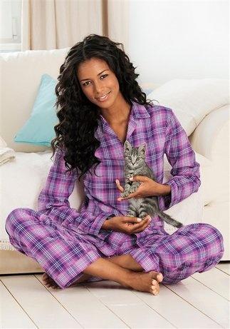 Flanell-Pyjama, Vivance Dreams