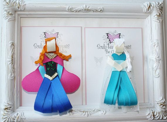 Inspired Frozen Ribbon Sculpture Bows. Pick 1. Free Ship Promo.