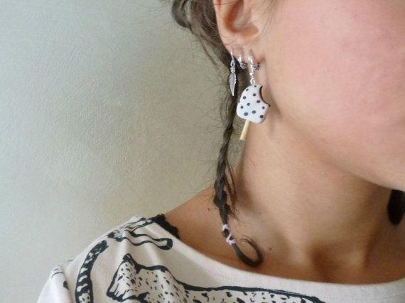 Yummy yay! icecream earrings ready for you #earrings #gelato #fimo #polymer #clay #craft #diy #earrings #orecchini #italy #love #inspiration #cute #kawaii #food #jewels