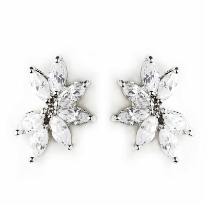 Evie Bridal Earring: Crescent Stud Event Earring