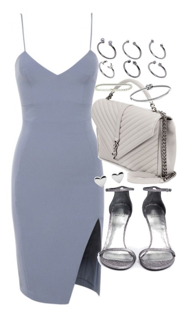 """Untitled #19851"" by florencia95 ❤ liked on Polyvore featuring House of CB, Yves Saint Laurent, Stuart Weitzman, ASOS, Michael Kors and Cartier"
