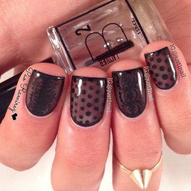 45 best Nails - Lace & Sheers images on Pinterest | Lace nails, Lace ...