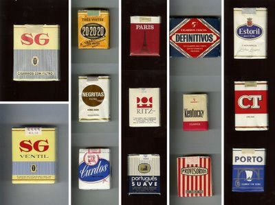 old cigarette packs