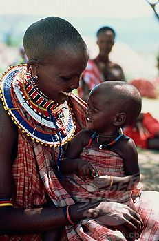 Africa | Masai mother carrying her child, Tanzania ...