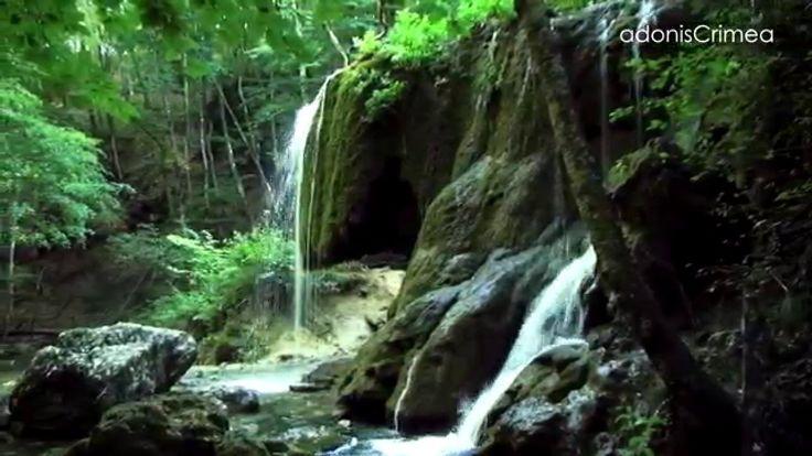 Водопад Серебряные струи в Большом каньоне Крыма