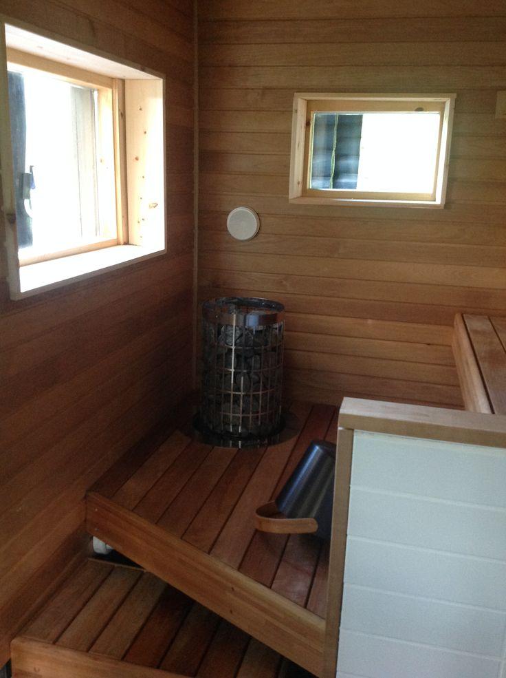 Kuhmoisten uusi sauna, melkein valmis.