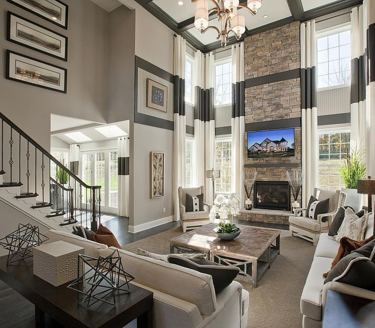 Family In Living Room: 69 Best Two Story Rooms Images On Pinterest